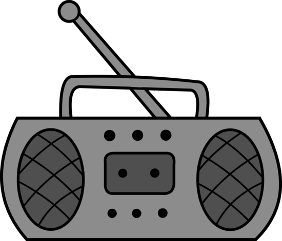 Cute Simple Radio Clip Art