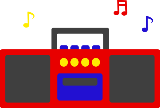 Cute Simple Red Radio