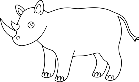 Rhino Outline For Coloring