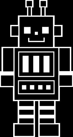 Cute Robot Silhouette