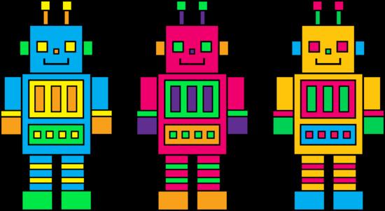 Cute Colorful Robots