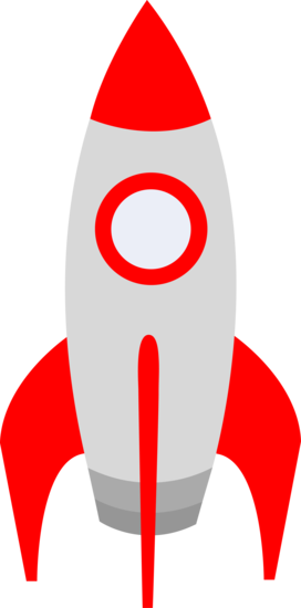 Little Red Outer Space Rocket