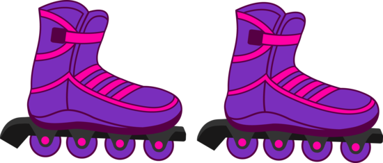 Pink and Purple Rollerblades