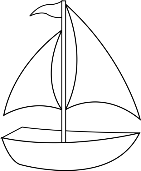Black and White Sail Boat