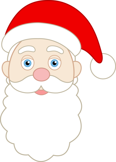 Face of Jolly Santa Claus
