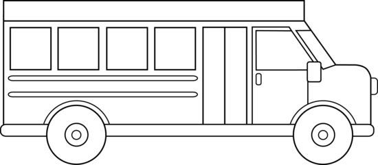 school bus line art