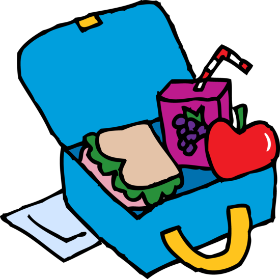 Blue School Lunchbox Clip Art