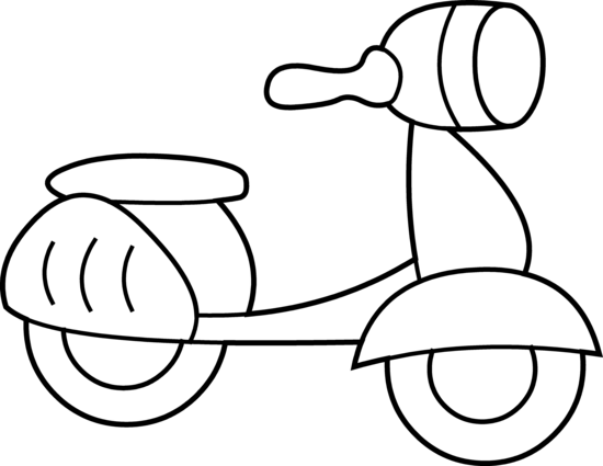 mini scooter coloring page