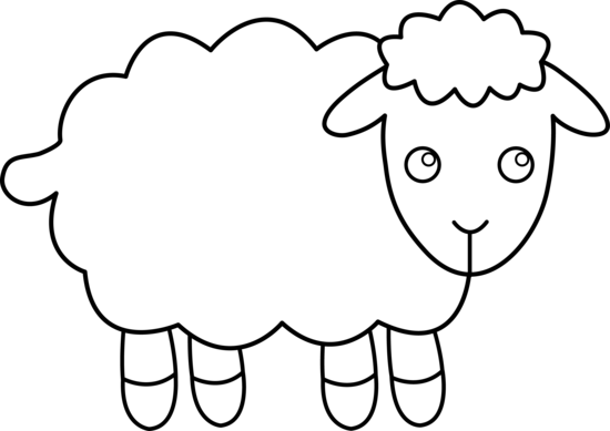 Cute Colorable Lamb