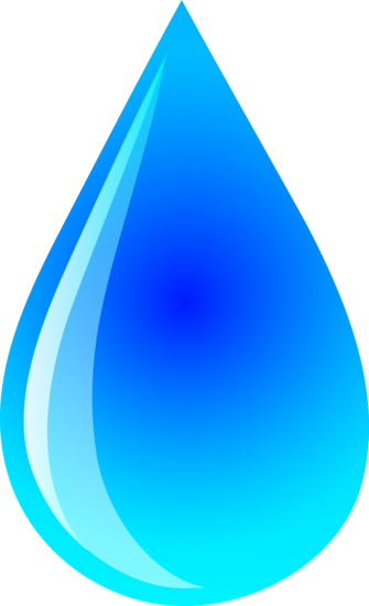 Blue Water Droplet Design