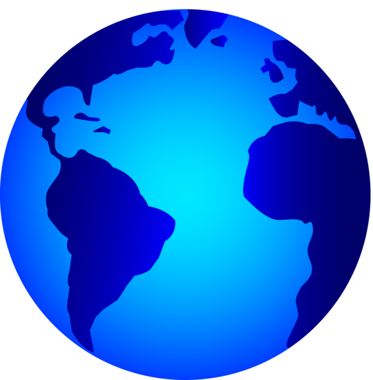 Light and Dark Blue Earth Logo