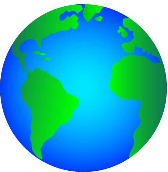 Glossy Planet Earth Logo