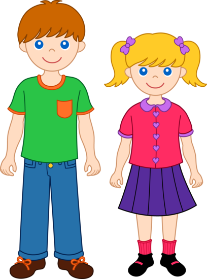 Brother and Sister Clip Art 1