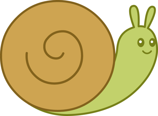 Cute Brown and Green Snail