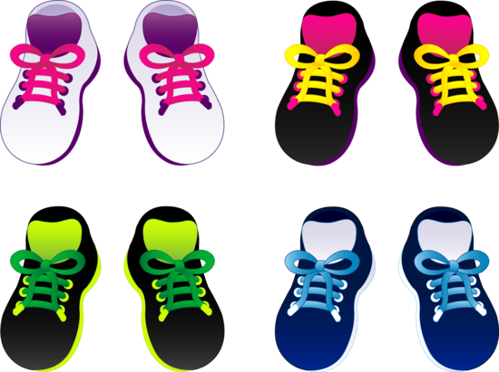 Four Pairs of Kids Shoes