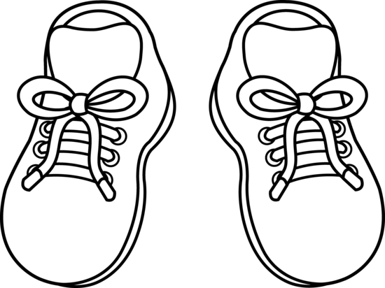 Pair Of Childrens Shoes Free Clip Art