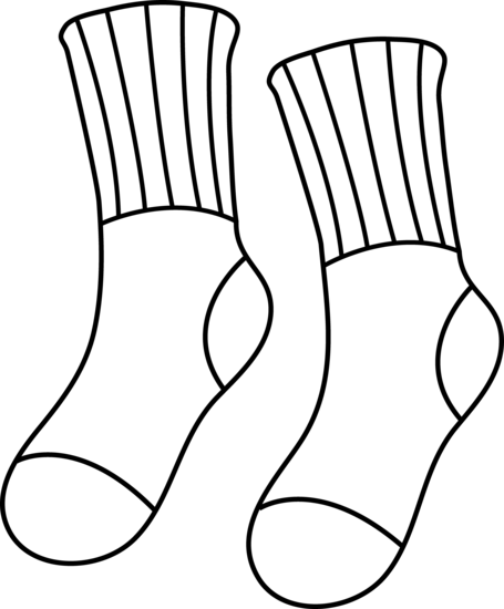 Pair Of Socks Coloring Page on Activities For The Foot Book By Dr Suess
