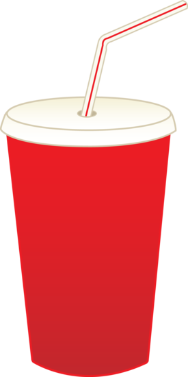 Soda Pop in Cup With Straw