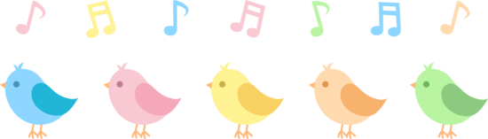 Five Cute Birds Singing