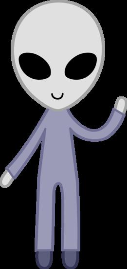 Smiling Space Alien Waving