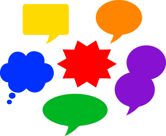 Speech Bubbles in Different Colors