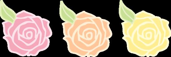 Orange Rose Clip Art Flowers