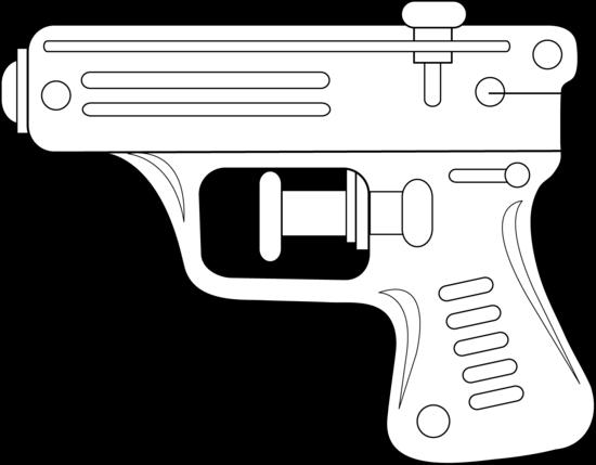 Squirt Gun Line Art