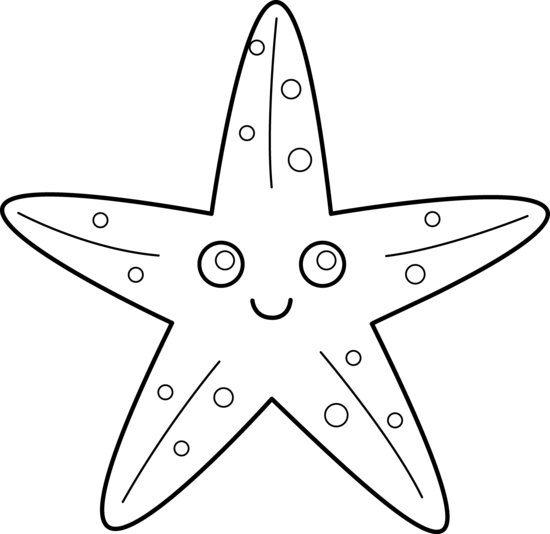 Starfish Coloring Page