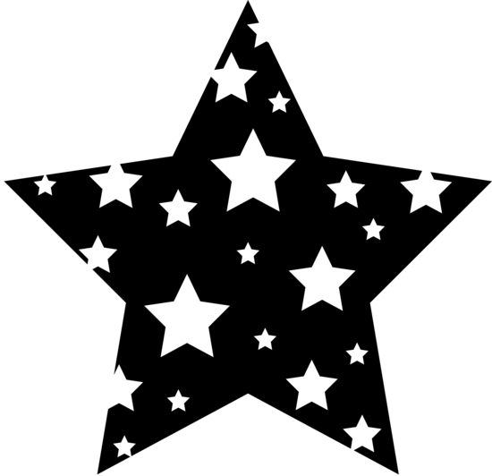 black and white star clip art - photo #17