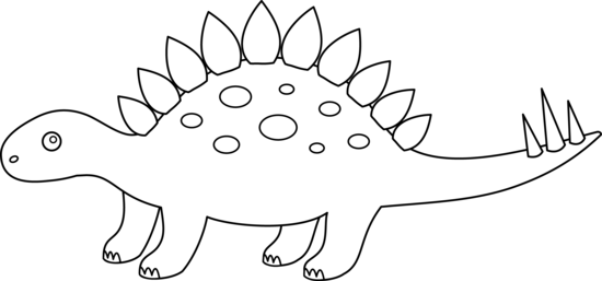 Stegosaurus Outline For Coloring