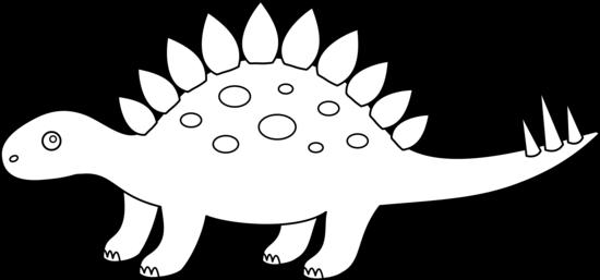 Stegosaurus Coloring Page Free Clip Art