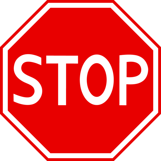 STOP_Red Stop Sign Clipart - Free Clip Art