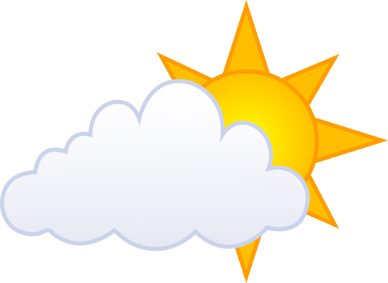 Partly cloudy sunny day symbol