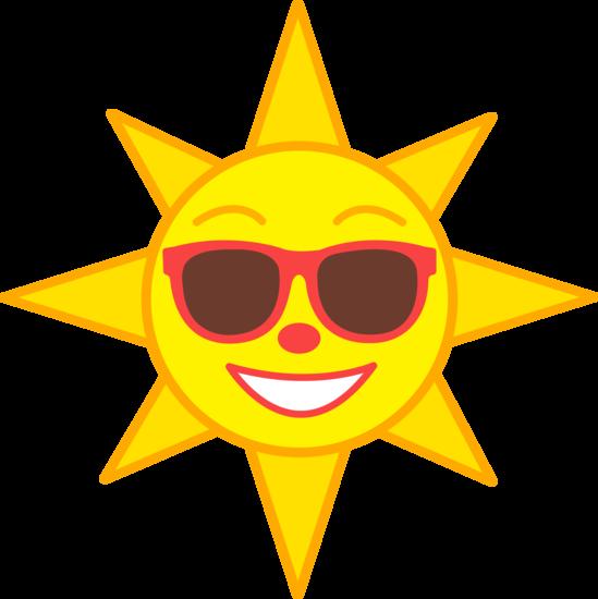 Happy Sun Wearing Shades