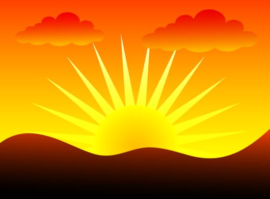 Sunset Behind Hills