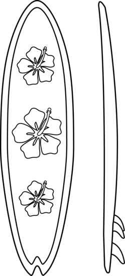 Surfboards Coloring Page