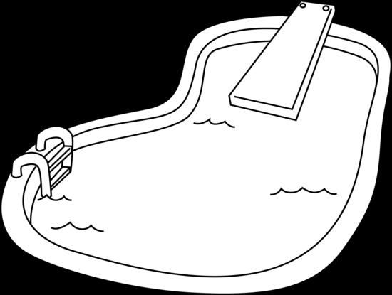 Swimming Pool Line Art