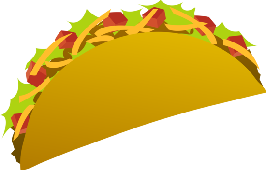 Clip Art of a Spicy Taco