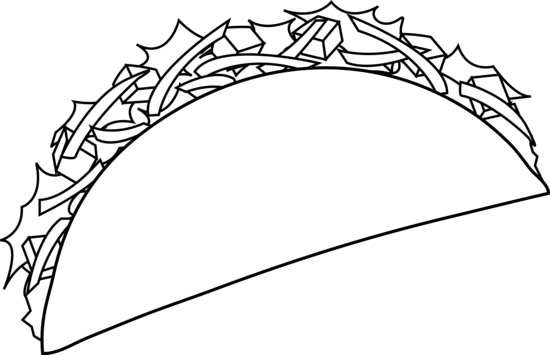 taco coloring pages for kids - photo #3