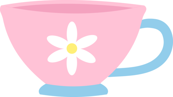 Cute Pink Teacup With Daisy