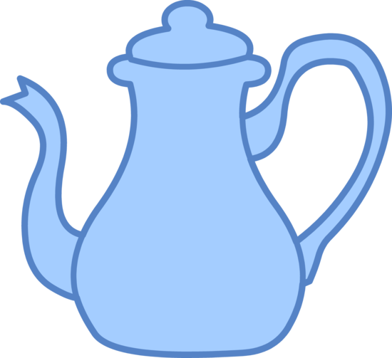 Blue Tea Kettle Clip Art