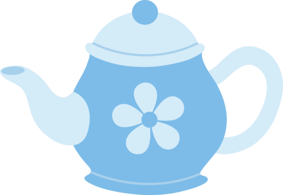 Blue Teapot With Flower