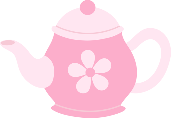Pink Teapot With Daisy
