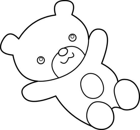 Cuddly Teddy Bear Coloring Page