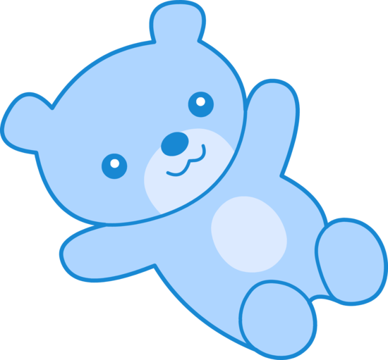 Cute Blue Teddy Bear Clip Art