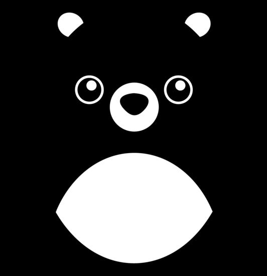 Chubby Teddy Bear Silhouette