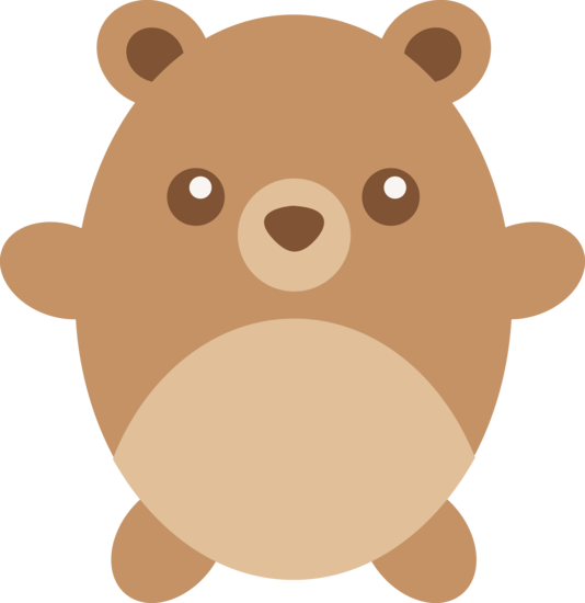 Cute Chubby Brown Teddy Bear