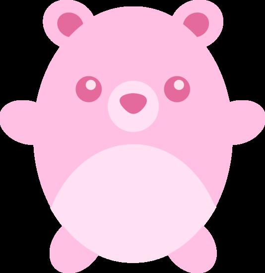 Cute Chubby Pink Teddy Bear