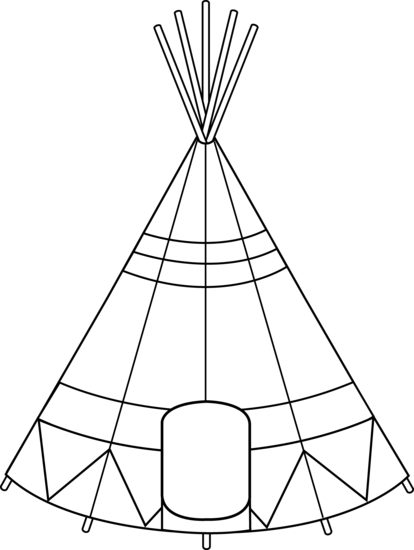 Colorable Teepee Design