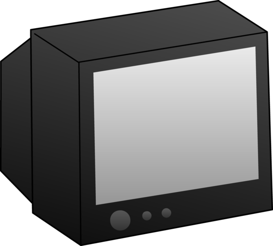 Simple Black Television Clip Art